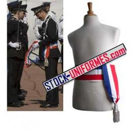 Echarpe ceinture tricolore Commissaire de police