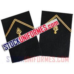 Grenades de col or par paire brodées main pour vareuse