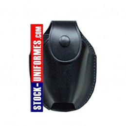 Porte menottes étui en cuir noir
