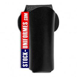 Etui en cuir noir porte aérosol 75 ml gendarmerie