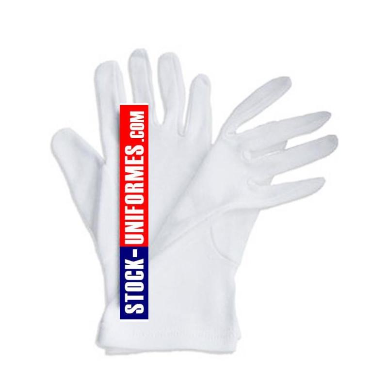 Gants blanc coton de cérémonie gendarmerie