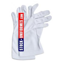 Gants blanc nylon de cérémonie sapeurs-pompiers