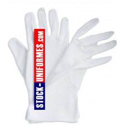 Gants blanc coton de cérémonie sapeurs-pompiers