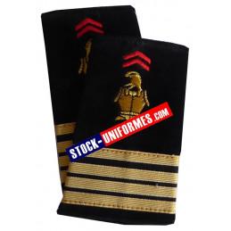 Fourreaux d'épaules Commandant pompier de Paris BSPP