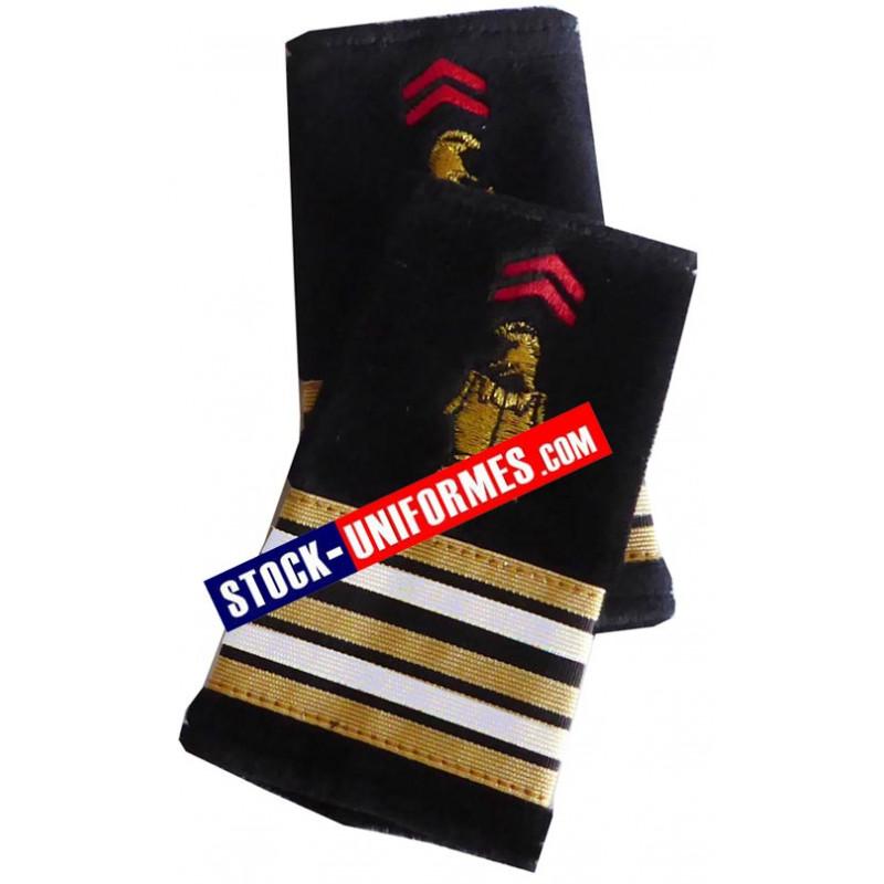 Fourreaux d'épaules Lieutenant-Colonel pompier de Paris BSPP