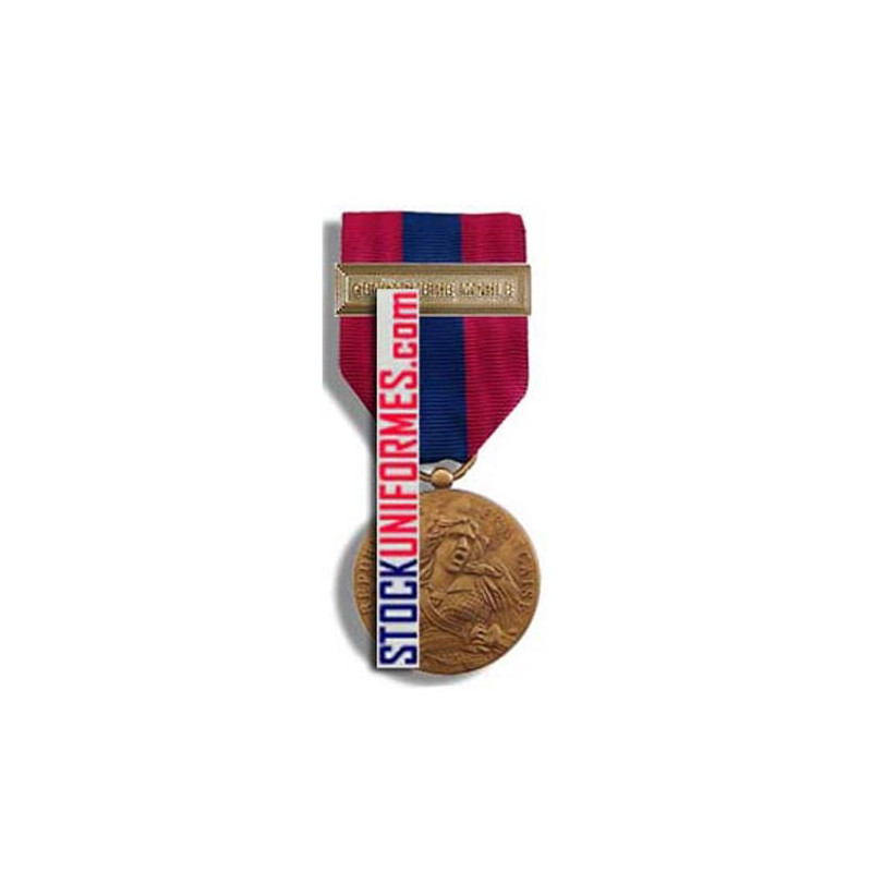 Médaille ordonnance Défense Nationale bronze agrafe Gendarmerie Mobile