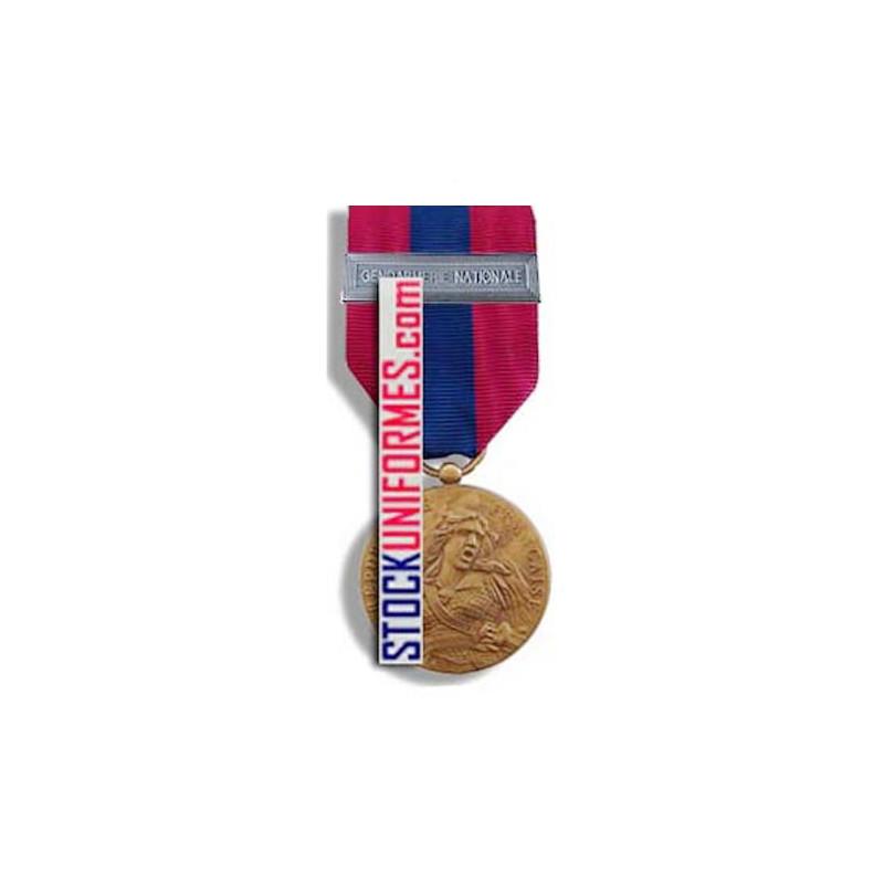 Médaille ordonnance Défense Nationale bronze agrafe Gendarmerie Nationale