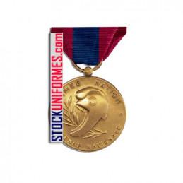 Verso - Médaille ordonnance Défense Nationale bronze agrafe Gendarmerie Nationale
