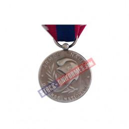 VERSO - Médaille ordonnance Défense Nationale argent agrafe Gendarmerie Nationale