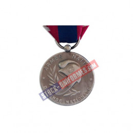 verso - Médaille ordonnance Défense Nationale argent