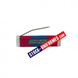 Barrette Défense Nationale argent agrafe Gendarmerie Départementale