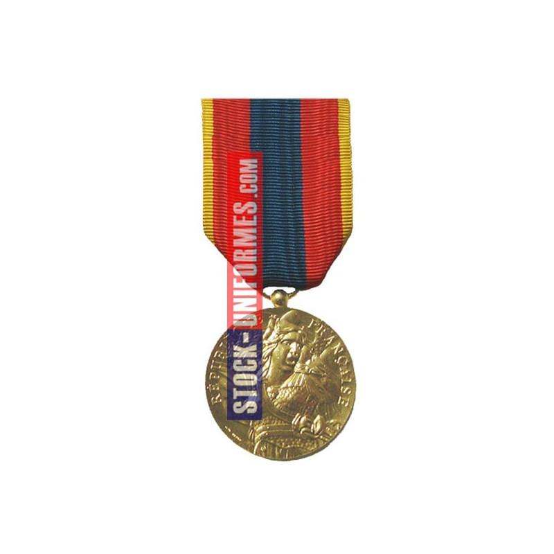 Médaille ordonnance Défense Nationale Or - AGRAFE EN OPTION