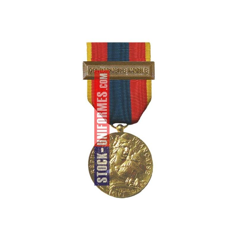 Médaille ordonnance Défense Nationale Or agrafe Gendarmerie Mobile