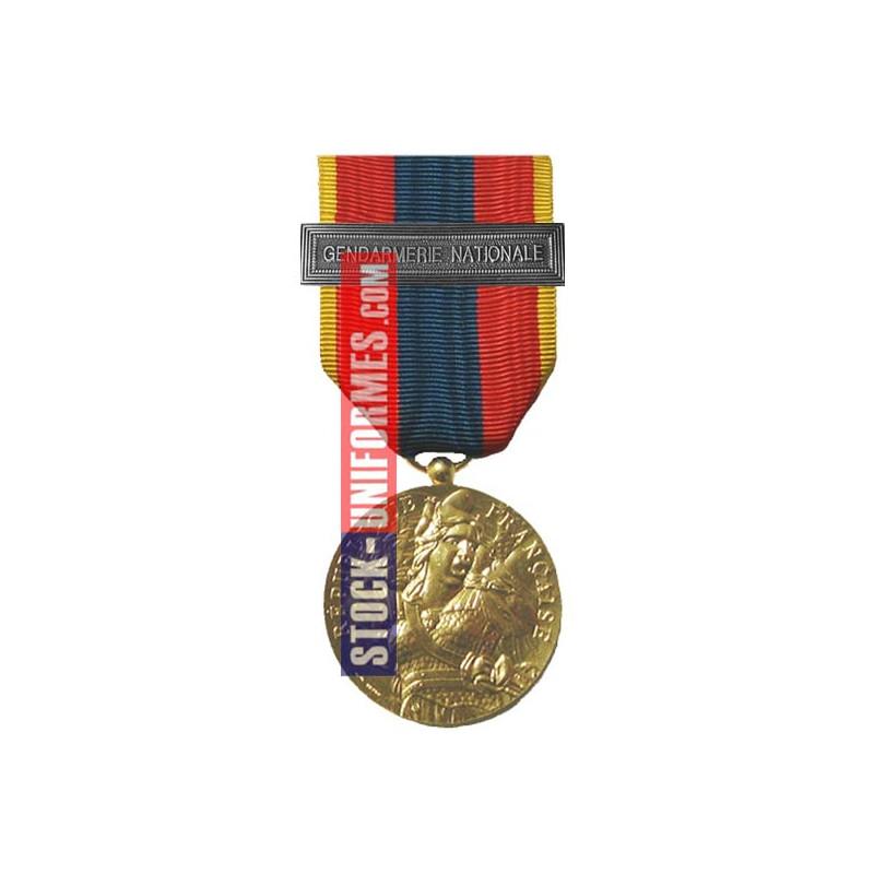 Médaille ordonnance Défense Nationale Or agrafe Gendarmerie Nationale