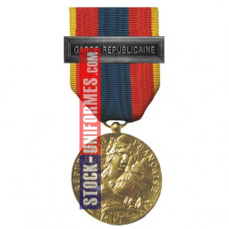 Médaille ordonnance Défense Nationale Or agrafe Garde Républicaine