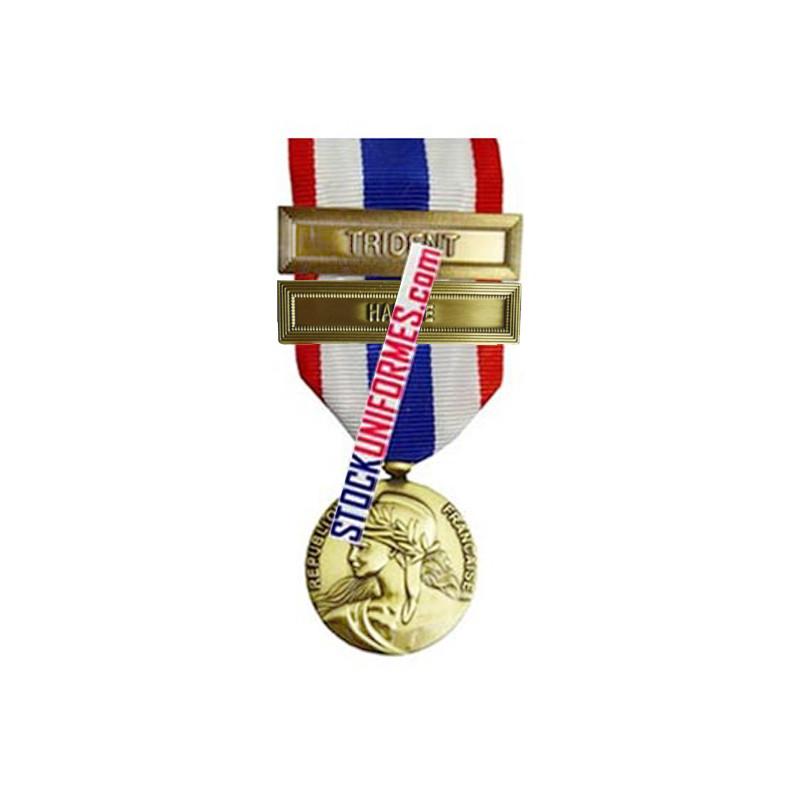 Médaille Protection Militaire du Territoire agrafes Harpie et Trident