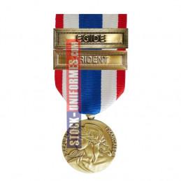 Médaille Protection Militaire du Territoire agrafes Trident et Egide