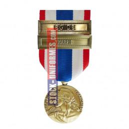 Médaille Protection Militaire du Territoire agrafes Harpie et Egide