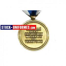 verso - médaille Protection Militaire du Territoire agrafes Harpie et Trident