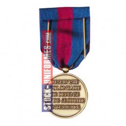 verso - Médaille Bronze Réserviste Volontaire de Sécurité Intérieure - AGRAFE EN OPTION