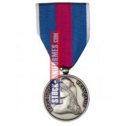 Médaille Argent Réserviste Volontaire de Sécurité Intérieure - AGRAFE EN OPTION