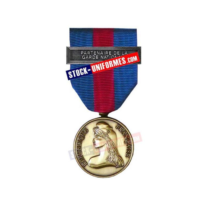 Médaille Bronze Réserviste Volontaire de Défense et Sécurité Intérieure - Partenaire de la Garde Nationale