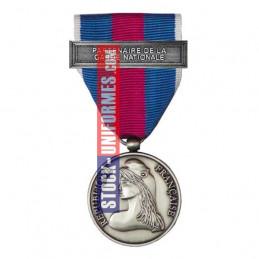 Médaille Argent Réserviste Volontaire de Défense et Sécurité Intérieure - Partenaire de la Garde Nationale