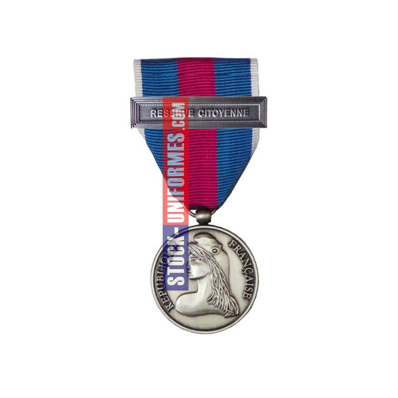 Médaille Argent Réserviste Volontaire de Défense et Sécurité Intérieure - Réserve Citoyenne