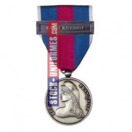 Médaille Argent Réserviste Volontaire de Défense et Sécurité Intérieure - Garde Nationale
