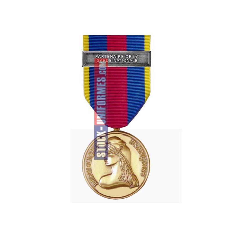 Médaille Or Réserviste Volontaire de Défense et Sécurité Intérieure - Partenaire de la Garde Nationale