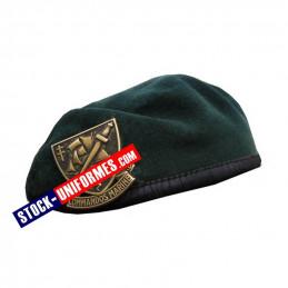 Béret militaire vert commando de marine - livré avec insigne