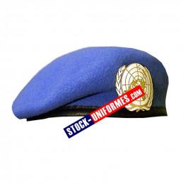 Béret militaire bleu Onu - livré avec insigne