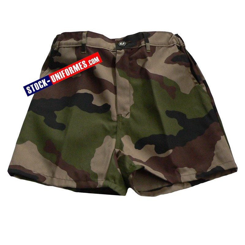 Short militaire camouflage centre Europe
