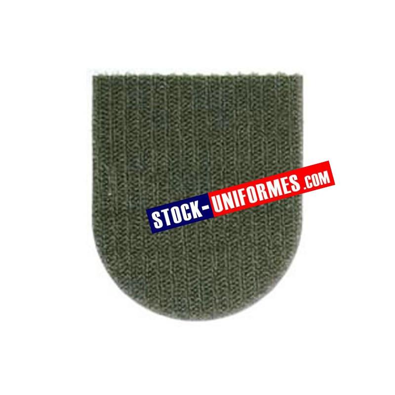 Velcro kaki préformé - forme blason arrondi