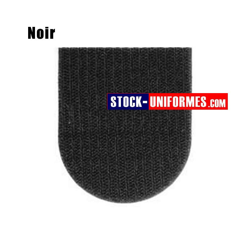 Velcro noir préformé - forme blason arrondi