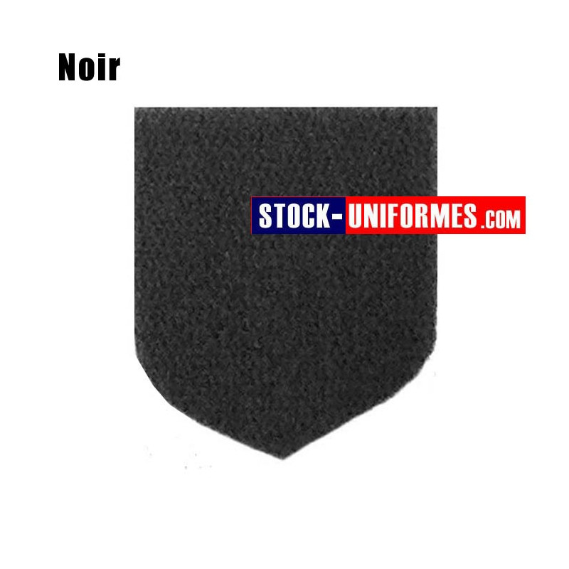 Velcro noir préformé - forme blason pointu