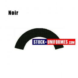 Velcro noir préformé - forme demi-lune