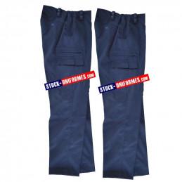 2 Pantalons de service courant Gendarmerie - nouveau bas droit