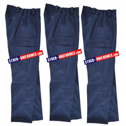 3 Pantalons de service courant Gendarmerie - nouveau bas droit
