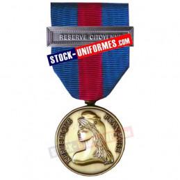 Médaille Bronze Réserviste Volontaire de Défense et Sécurité Intérieure - Réserve Citoyenne