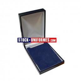 Ecrin luxe bleu avec liseré or pour médaille ordonnance