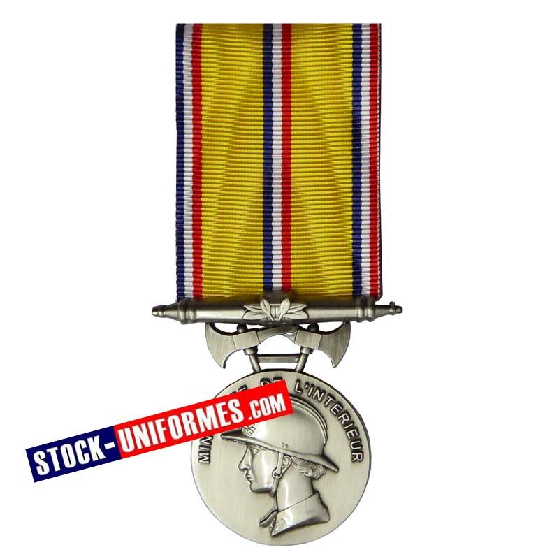 Médaille Sapeurs-pompiers 20 ans d'ancienneté échelon argent