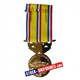 Médaille Sapeurs-pompiers 40 ans d'ancienneté échelon Grand Or