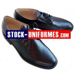 Chaussures cuir noire de cérémonie pompiers