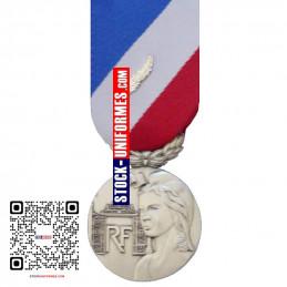 Médaille ordonnance Sécurité Intérieure argent - agrafe en option