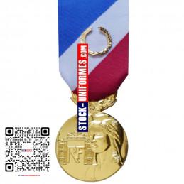 Médaille ordonnance Sécurité Intérieure Or - agrafe en option