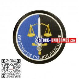 Ecusson plastique OPJ Officier de Police Judiciaire