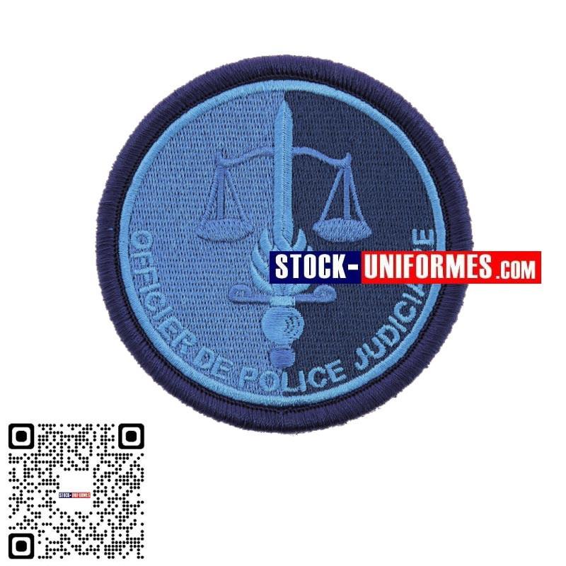 Ecusson brodé basse visibilité Bleu OPJ Officier de Police Judiciaire