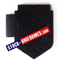 Porte écusson, identification, stylo velcro noir