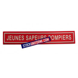 Bande en gomme rouge sur velcro Jeunes sapeurs-pompiers